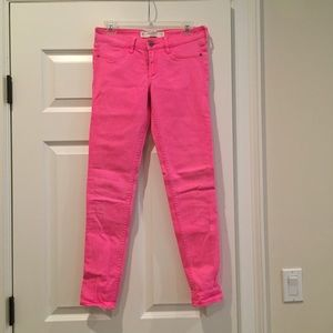 Pink Abercrombie Jeans